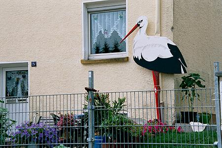 Klapperstorch in Dudweiler.